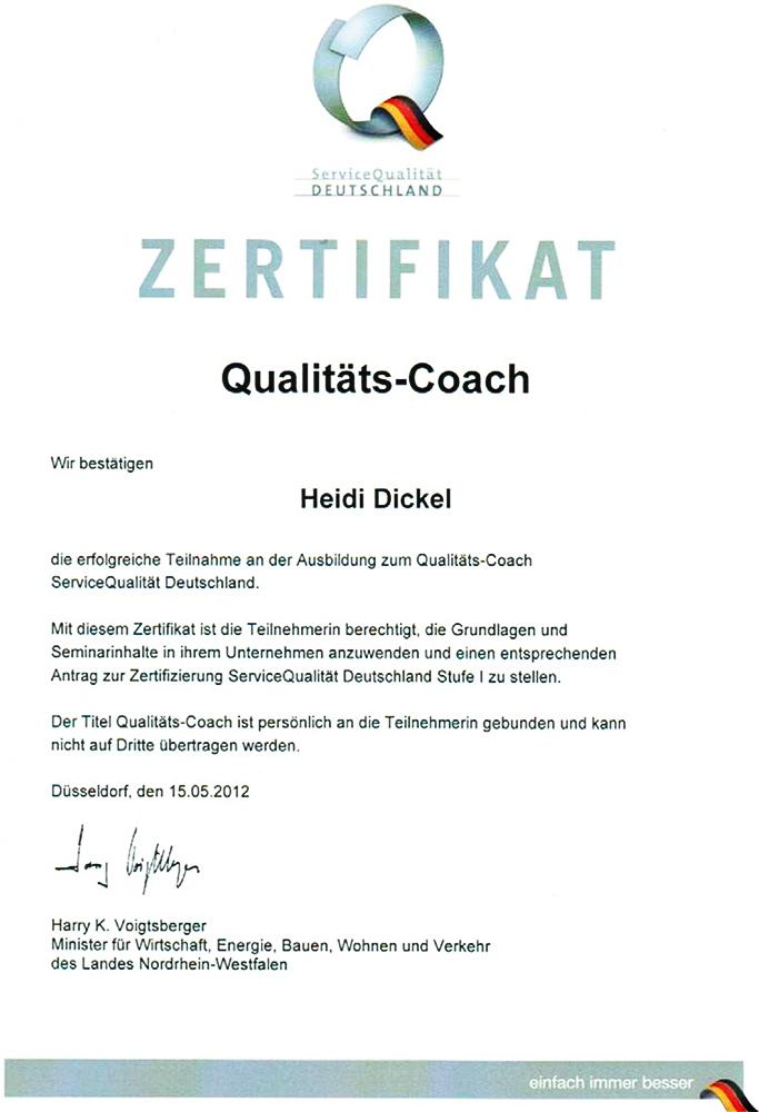 Zertifizierung Qualitäts-Coach